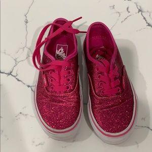 Girls Vans sparkle pink shoe